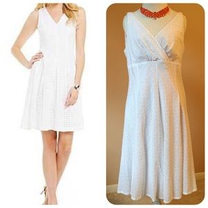 American Living White Eyelet Sleeveless Dress